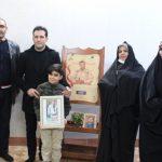 دیدار رئیس فدراسیون جودو با فرزند شهید مدافع حرم